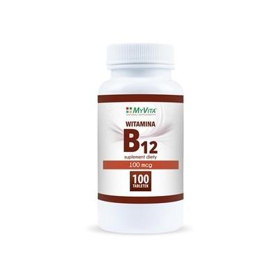 Witamina B12 100mcg  - 100 tabl