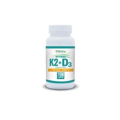Witamina K2 MK-7 100mcg + D3 2000IU 120 tab