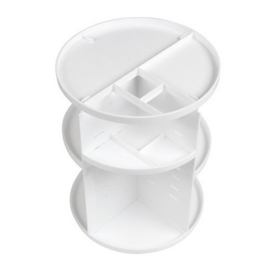 RIO BEAUTY COSMETIC AND BRUSH 360 STORAGE CAROUSEL WHITE