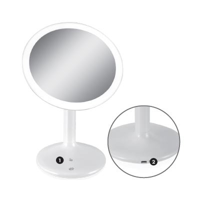 RIO BEAUTY TOUCH SENSE MAGNIFYING MIRROR