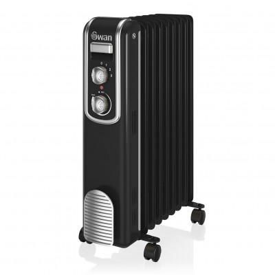 Oil Filled Radiator 2000W BLACK