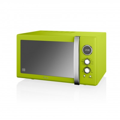 Retro 25L Digital Combi Microwave with Grill LIME