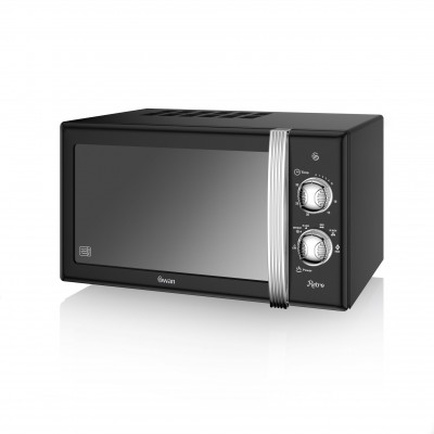 Manual Microwave 800W BLACK SM22130BN SWAN