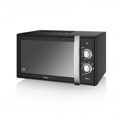 Manual Microwave 800W BLACK SM22130BN SWAN
