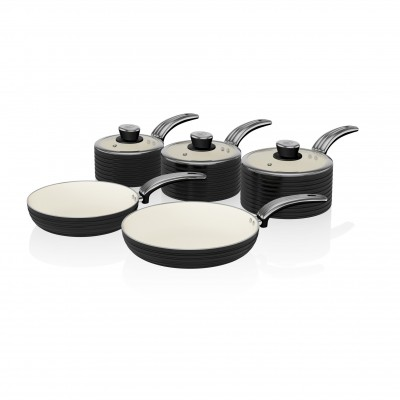Retro 5 Piece Pan Set BLACK