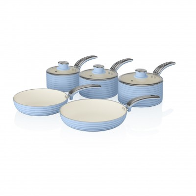 Retro 5 Piece Pan Set BLUE