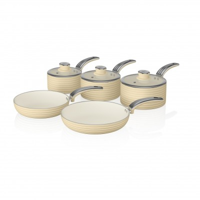 Retro 5 Piece Pan Set CREAM