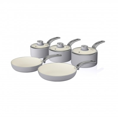 Retro 5 Piece Pan Set GREY