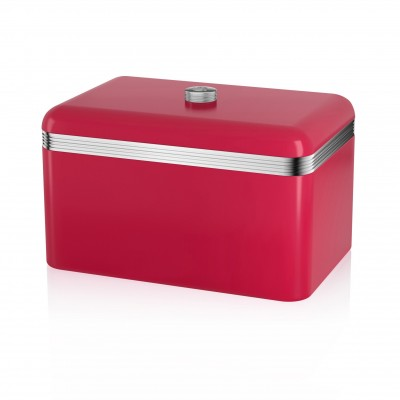 Retro Bread Bin RED