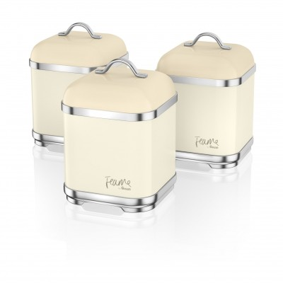 Set of 3 Canisters HONEY