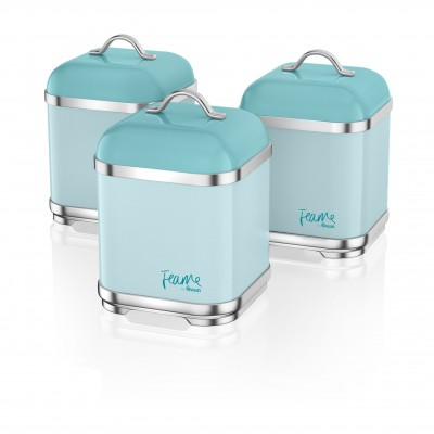 Set of 3 Canisters PEACOCK