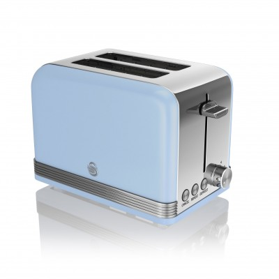 2 Slice Retro BLUE Toaster