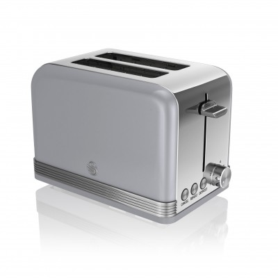 2 Slice Retro GREY Toaster