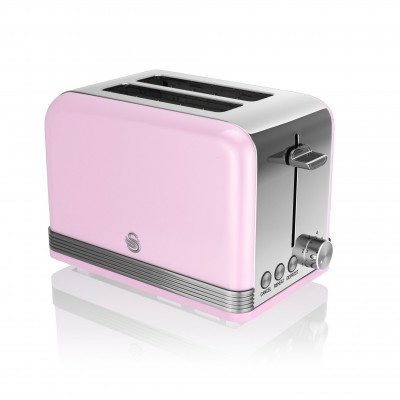 2 Slice Retro PINK Toaster