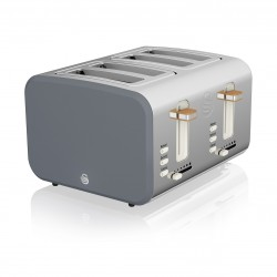 4 Slice Nordic Toaster GREY