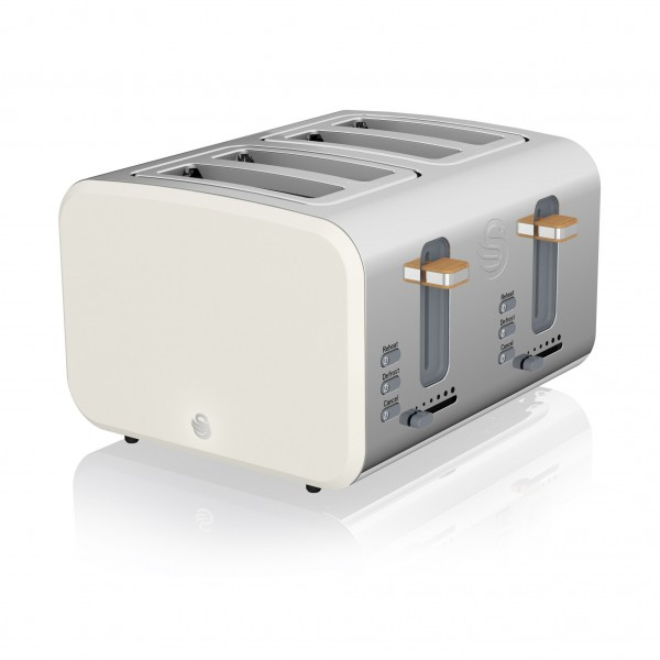 4 Slice Nordic Toaster WHITE