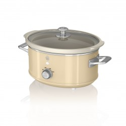 WOLNOWAR 3.5L Slow Cooker Retro Cream SF17021CN SWAN