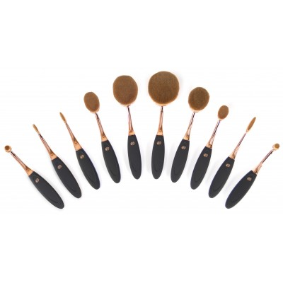 Professional Microfibre Oval Cosmetic Brush Collection