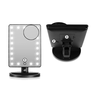 RIO BEAUTY LED TOUCH 21 DIMMABLE MAKEUP MIRROR
