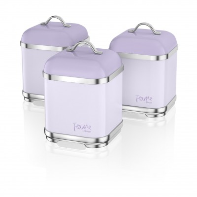 Set of 3 Canisters LILY