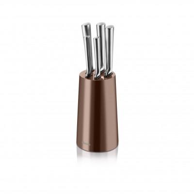 5 Piece Knife Block Copper