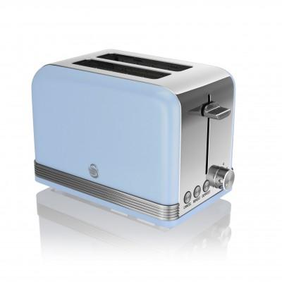 2 Slice Retro BLUE Toaster
