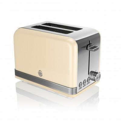 2 Slice Retro CREAM Toaster