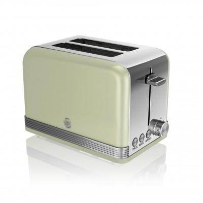 2 Slice Retro GREEN Toaster